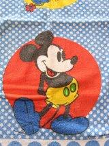アンティーク タオル ミッキーとミニーマウス 生地 ビンテージ