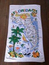 アンティーク 1970年前後 スーベニアタオル FLORIDA デッドストック ビンテージ