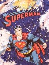 アンティーク カーテン ファブリック 生地 絵柄 スーパーマン ビンテージ その2