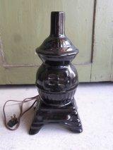 アンティーク 1灯 デスクランプ ストーブ型 ストーブモチーフ 陶器 ビンテージ