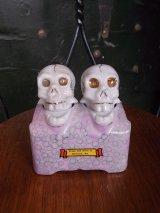 アンティーク 1950'S ソルト&ペッパー セット ドクロ スカル 陶器 ビンテージ