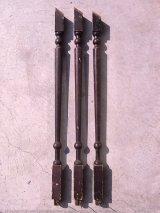 アンティーク 廃材 ステアポール 手摺子 階段やデッキの手すり用柱 支柱 脚 ブラウン ビンテージ 中