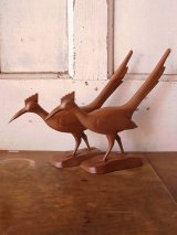 鳥 バード キジ ウッド folkart フォークアート アンティーク ビンテージ