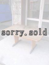 スクールデスク ワークテーブル ワークベンチ アートテーブル モダンアート ウッドテーブル ウッド×アルミ合金 大型 アンティーク ビンテージ