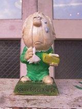 70'S カスタムメイド メッセージドール 人形 SORRY TO SEE YOU GO ペイント アンティーク ビンテージ