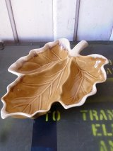 ashtray モダン 洋菓子皿 灰皿 リーフ型 装飾 陶器 アンティーク ビンテージ