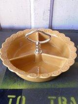 ashtray   小物入れ 灰皿 持ち手付き 装飾 CALIF USA 陶器 アンティーク ビンテージ