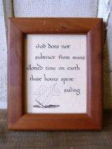 God does not sabtract... メッセージアート セーリング ウッドフレーム ウォールオーナメント 壁掛け アンティーク ビンテージ