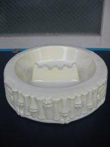 TIKI ティキ 灰皿 アッシュトレイ 竹 バンブー 陶器 ホワイト アンティーク ビンテージ