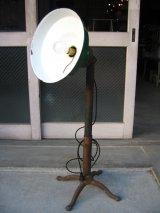 インダストリアルライト 1灯 フロアランプ ポーセリンシェード スイッチ付き ビクトリアン 猫足 角度 高さ 変更可 アンティーク ビンテージ
