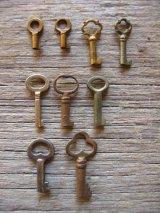 スケルトン キー カギ 鍵 ミニミニサイズ 極小 ペンダントトップに アンティーク ビンテージ