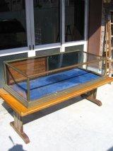 1860'S 1870'S 1880'S 19世紀 真鍮枠ガラスショーケース 展示ケース ディスプレーケース 真鍮 ニッケル ウッド M.Anderson MAKER Chicago 店舗什器 アンティーク ビンテージ