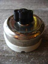 1910'S 20'S アメリカ製 サーフェイススイッチ ターンスイッチ 真鍮 クロームメッキ ポーセリン GE GENERAL ELECTRIC デッドストック アンティーク ビンテージ