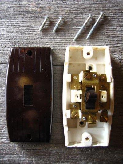画像5: 1930'S アメリカ製 BRYANT サーフェイススイッチ レバースイッチ ベークライト ポーセリン 箱付き デッドストック アンティーク ビンテージ