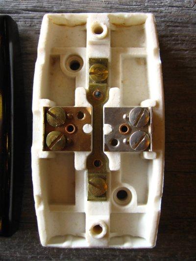 画像4: 1930'S 40'S アメリカ製 SURFACE JUNCTION BOX サーフェイスジャンクションボックス ライティング シーリングベース ベークライト ポーセリン 箱付き デッドストック アンティーク ビンテージ