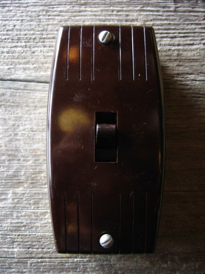 画像2: 1930'S アメリカ製 BRYANT サーフェイススイッチ レバースイッチ ベークライト ポーセリン 箱付き デッドストック アンティーク ビンテージ