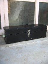 1930'S 40'S へビーデューティ ウッドボックス ツールボックス 木箱 ブラック 取手付き アンティーク ビンテージ