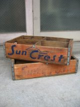 ボトルクレート サンクレスト Sun Crest ボトルケース ウッドボックス 木箱 アドバタイジング アンティーク ビンテージ その1