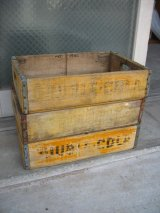 ボトルクレート ダブルコーラ DOUBLE COLA ボトルケース ウッドボックス 木箱 イエロー アドバタイジング アンティーク ビンテージ その8