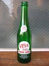 1960'S レア ソーダボトル ガラスボトル VESS lemon soda アドバタイジング アンティーク ビンテージ