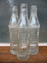 1940'S レア SODA BOTTLE ソーダボトル ポップボトル ガラス瓶 FIVE-O アドバタイジング アンティーク ビンテージ