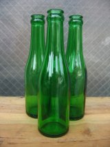 1930'S SODA BOTTLE ソーダボトル ポップボトル ガラスボトル グリーン アンティーク ビンテージ