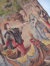 MADE IN BELGIUM ベルギー製 タペストリー ビクトリアン アートラグ 壁掛け ウォールオーナメント アンティーク ビンテージ