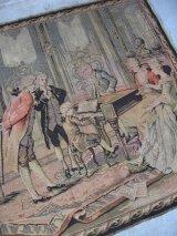 MADE IN FRANCE フランス製 タペストリー ビクトリアン アートラグ 壁掛け ウォールオーナメント アンティーク ビンテージ