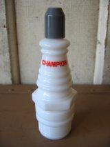 AVON ミルクガラスボトル瓶 スパークプラグ CHAMPION SPARK PLUG チャンピオン アンティーク ビンテージ
