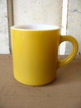 マグカップ ミルクガラス カラーマグ 山吹色 アンティーク ビンテージ