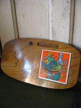 ポットスタンド 鍋敷き ウッド タイル アンティーク ビンテージ