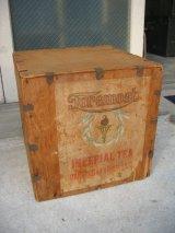 1910'S 20'S 30'S 茶箱 ウッドボックス 木箱 IMPERIAL TEA ストレージBOX アドバタイジング アンティーク ビンテージ