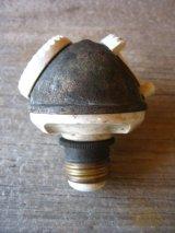 Socket Cluster 1900'S 10'S 2口変換ソケット アダプター 真鍮 ポーセリン アーリーセンチュリー Benjamin ベンジャミン アンティーク ビンテージ