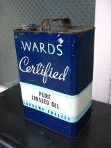 オイル缶 WARDS CERTIFIED LINSEED OILS ティン缶 アドバタイジング アンティーク ビンテージ