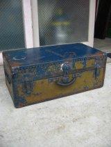 メタルトランク SAMSON LUGGAGE 中型 スーツケース インナートレイ 店舗什器に アンティーク ビンテージ
