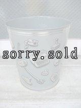 ダストボックス buckets trash can トラッシュカン ゴミ箱 エンボス加工 WEIBRO CORP スチール アンティーク ビンテージ