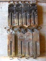 1890'S 1900'S 1910'S バネ秤 計量器 吊り下げ式秤 スケール メタル ディスプレイに アンティーク ビンテージ