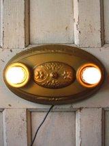 30'S    ウォールマウント&シーリングマウント ビクトリアン フラッシュマウント 2灯 メタル 真鍮メッキ アンティーク ビンテージ