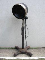 HAIR DRYER改 インダストリアルフロアランプ 1灯 BLUE STREAK ターンスイッチ    き キャスター付き 角度変更可能 高さ変更可能 アイアン アンティーク ビンテージ