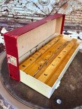 1930'S プライスカード $ dollar ダラー 値札 数字 STAMP スタンプセット 箱付き 木製 アンティーク ビンテージ