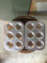 DEADSTOCK    USA MIRRO製 ミロ アルミカップ 小物入れ テーブルソーター カップケーキパン マフィンパン ビンテージ