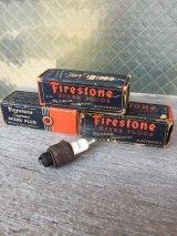 1940'S 50'S ファイヤーストーン チャンピオン Firestone スパークプラグ Champion SPARK PLUG 空箱 紙箱 ボックス アドバタイジング アンティーク ビンテージ