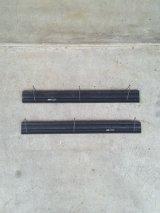 Gates 3連フック 壁掛け ウォールハンガーラック ウッド×アイアン ブラック アンティーク ビンテージ