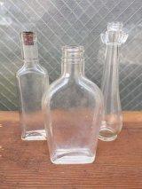 ガラスボトル 3本セット 薬瓶 クリアボトル コルク 一輪挿し アンティーク ビンテージ