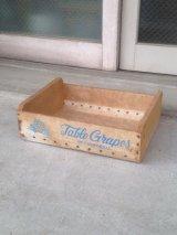 ウッドボックス TABLE GRAPES OF CALIFORNIA 木箱 ストレージBOX アドバタイジング アンティーク ビンテージ