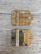 1940'S 蝶番 2個セット ヒンジ メタル クロームメッキ アンティーク ビンテージ