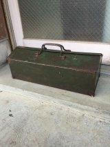 1940'S ツールボックス シャビーシック メタルボックス 工具箱 インダストリアル インナートレイ付 アンティーク ビンテージ