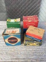 1930'S 40'S 50'S ネイル ステイプル 紙箱 釘 5箱セット アドバタイジング アンティーク ビンテージ