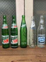 SODA BOTTLE ソーダボトル ポップボトル ガラス瓶 MOUNTAIN DEW SLICE LIKE BARG'S  クリアガラス 色付きガラス アンティーク ビンテージ