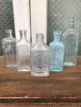 19世紀 1860'S 70'S 80'S メディスンボトル 瓶 クリアガラス 色付きガラス アンティーク ビンテージ